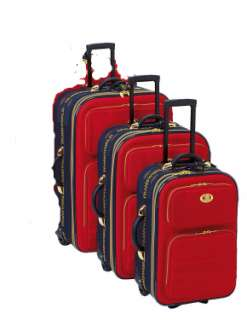 special promotion transworld 3 piece rolling luggage set available in