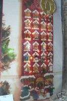 Applique Christmas ADVENT CALENDAR Kit,TOY STORE,Lights Up,Shopping