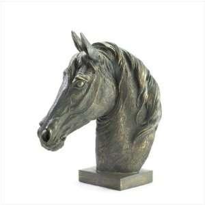 BRONZE FINISH HORSE HEAD BUST Home & Kitchen