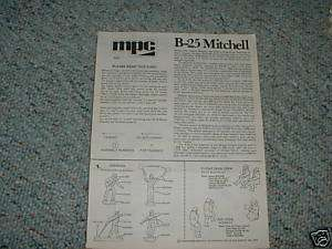Airfix MPC 1/72 B 25 Mitchell Instructions