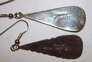 VINTAGE STERLING SILVER & PINK MOTHER OF PEARL 1.5 DANGLE EARRINGS