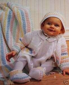 FANCY French Knots Baby Layette Set Crochet Pattern