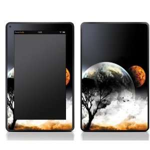 Planet Earth Mars Design Kindle Fire Skin Sticker Cover