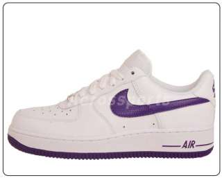 Nike Wmns Air Force 1 07 White Purple 2011 Casual Shoes
