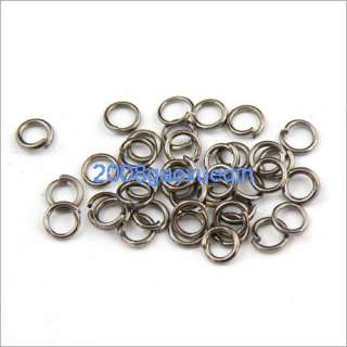 500Pcs Black plated Open Jump Ring 4×0.7mm A030