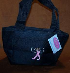Awareness Ribbon Angel Embroidery Lunch Pail Cooler Tote Bag