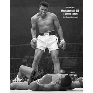 Muhammad Ali First Round Knockout Boxing Sports Poster 16