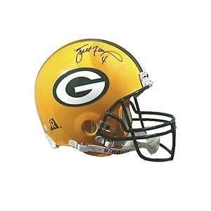Brett Favre Hand Signed Packers Helmet
