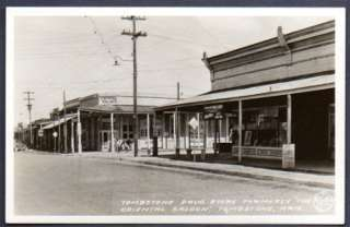 the Crystal Palace Bar and Tombstone Drug Store in Tombstone, Arizona