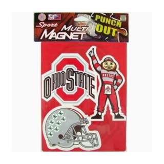 Ohio State Buckeyes Sheet Of 3 Car Truck Fridge Magnets