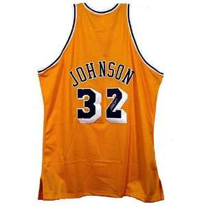 Magic Johnson Autographed Jersey  Details Los Angeles Lakers, Gold