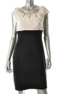 Adrianna Papell NEW Ivory Career Dress BHFO Sale 10