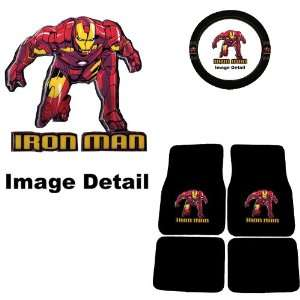 Iron Man Marvel Comics Logo Front & Rear Seat Car Truck