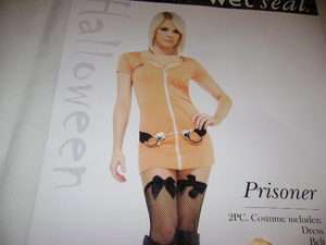 PRISONER~HALLOWEEN COSTUME~Womens Size Small~WET SEAL
