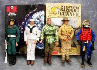 GI Joe Action Figures 12 Sailor Diver MP Mercury Astronaut +MANY