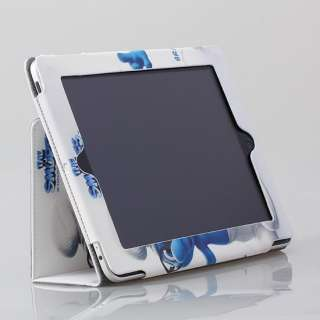 Apple iPad 2 Magnetic BRAINY SMURF White PU Leather Case Smart Cover