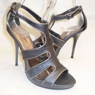 MICHAEL ANTONIO BLACK FISHBONE HIGH HEELS/SHOES SIZE 10