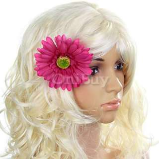 Colors Bridal Beach Party Daisy Flower Hair Clip Pin