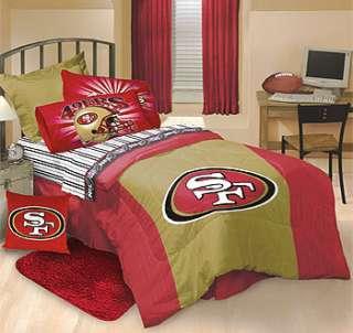 NFL San Francisco 49ers Bedding COMFORTER+Bed Sheet Set