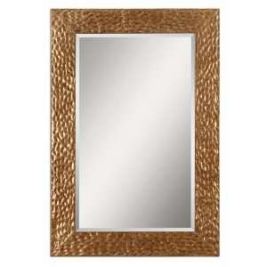 61 Jaroso Mirror Pitted Metal Frame Finished In An Antiqued Gold Leaf