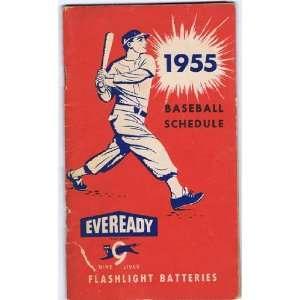 1955 Baseball Schedule 1955 Baseball Schedule   Sports Memorabilia