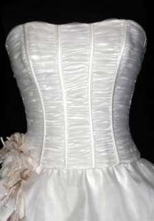 Maggie Sottero White 10 Informal Wedding Ball Gown Bridal Dress