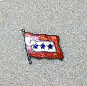US Army Navy Son In Service Blue Star Family Sterling Flag Pin 3 Star