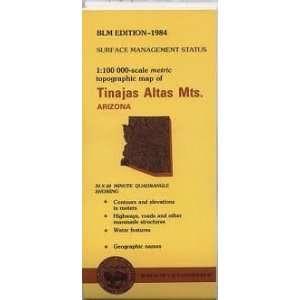 Tinajas Atlas Mountains Arizona 1100,000 Scale Topo Mpa