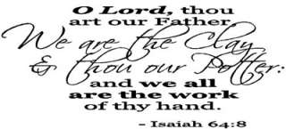 ART OUR FATHER We are Vinyl Wall Quote Decal Bible Quotes Saying New