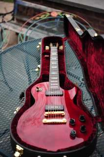 SHOP LES PAUL STANDARD WINE RED DARK BACK MOP FRET INLAYS USA