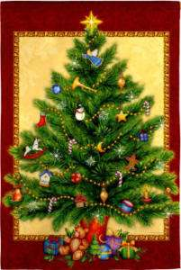 Traditional Christmas Tree Decorative Mini Garden Flag 746851470929