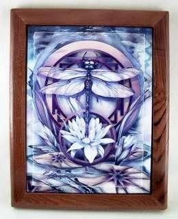 Jodie Bergsma DRAGONFLY FRAMED ART TILE Mantle Decor