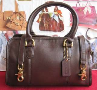 VINTAGE COACH BROWN LEATHER DOCTOR HANDBAG MADE IN USA # 9871 SO NICE