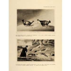 1924 Cockfighting Rabbit Hunting Samuel Alken Print