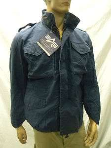 Industries M65 M 65 Field Jacket Coat Navy Blue Army Military