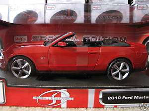 NEW 2010 FORD MUSTANG GT DIECAST MAISTO CAR 118 RED