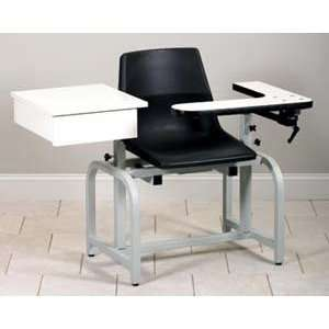 Blood drawing chair, with plastic seat chair & drawer