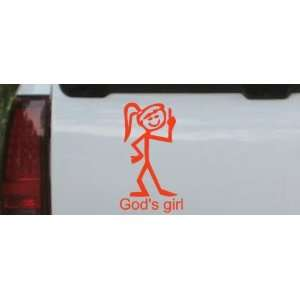 Red 24in X 13.7in    Gods Girl Christian Car Window Wall Laptop Decal