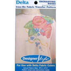Delta Designer Style Iron on Fabric Transfer Pattern Enchanting Roses