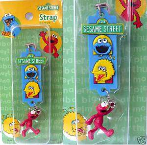 Japan Sesame Street Elmo Cookies Big Bird Phone Strap