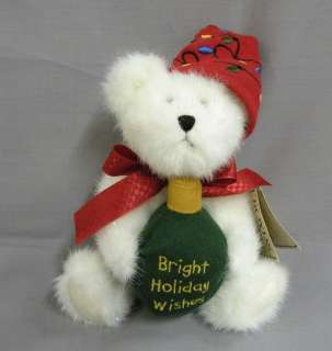 Boyds Bears Plush 8 Christmas Teddy Bear   Brightly McBearsley
