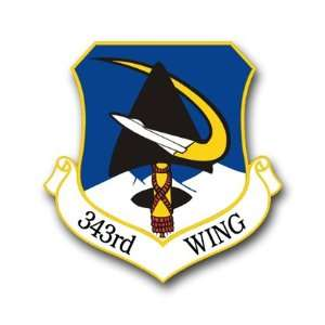 US Air Force 343rd Wing Decal Sticker 5.5 Everything