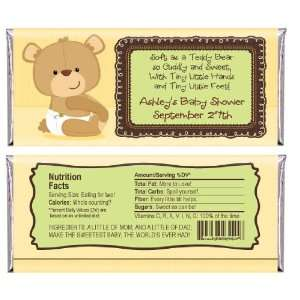 Teddy Bear   Personalized Candy Bar Wrapper Baby Shower Favors Baby