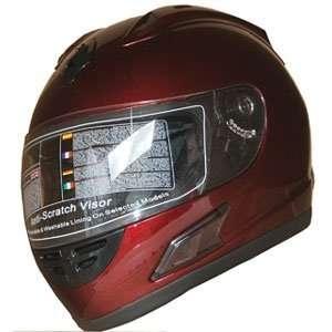 Sports Motorcycle Helmet DOT (508) Burgundy Red