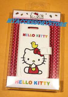 For Apple iPhone 4 4S Hello Kitty OEM Sanrio Book Type Leather Phone