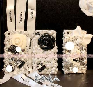 HOT New Classic White and Black Style DIY Mobile Phone iphone Shell