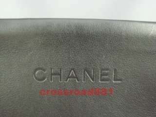 Authentic Chanel Black Lamb Skin Leather Tote Bag Great