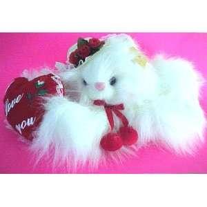 VALENTINE Musical Plush KITTY CAT  W/Hat & plush heart Toys & Games