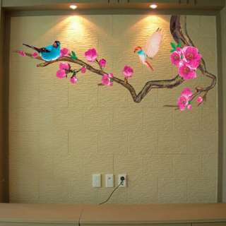Ume Flowering Tree Adhesive Removable Wall Decor Accents Stickers