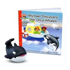 Fisher Price Little People Zoo Talkers Orca Whale & Book Set NEW